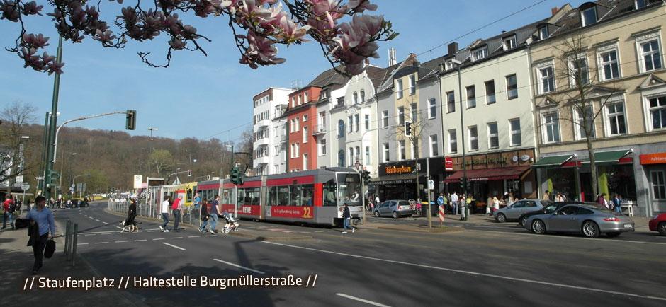 Staufenplatz-Haltestelle-Burgmuellerstraße